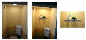 浜松市のリフォーム浜松によるガラス棚の取り付けの施工例です。