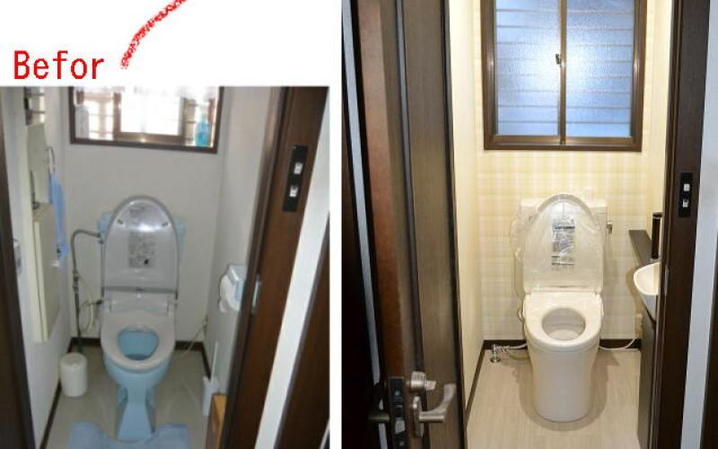 かわいいトイレにリフォームできました。どうでしょう?