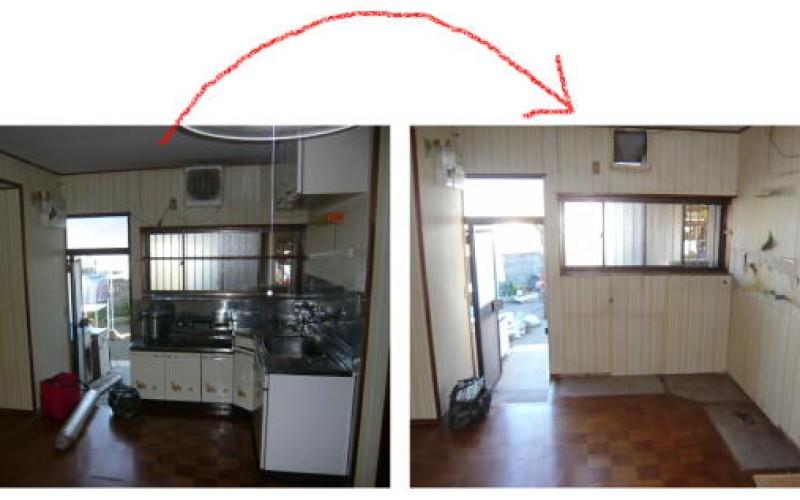 OBクライアントM様宅のキッチンリフォーム始まりました。浜松市東区リフォーム
