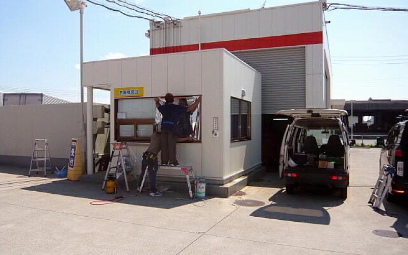 浜松市で日射、熱遮断、西日対策のガラスフィルム工事
