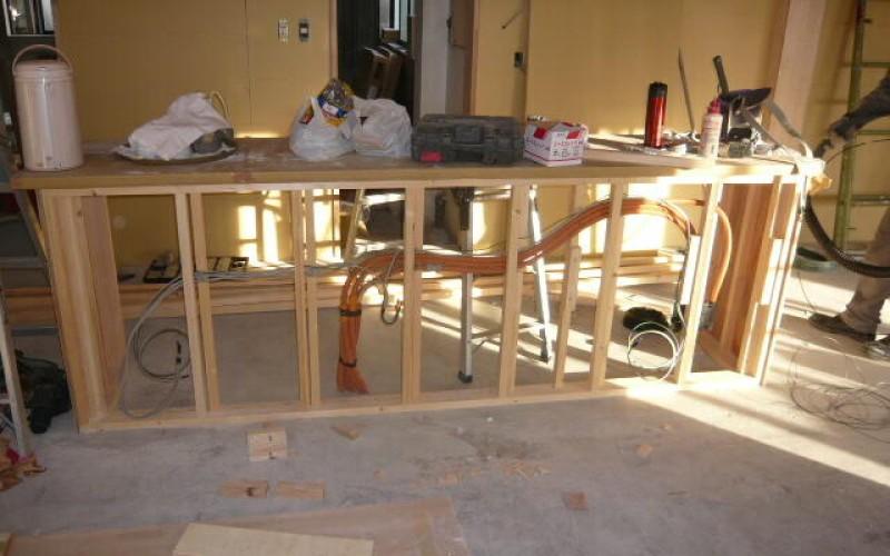 浜松市中区幸町の先輩のお店の店舗新装工事がスタート~その4~大工工事、造作工事、軽量工事