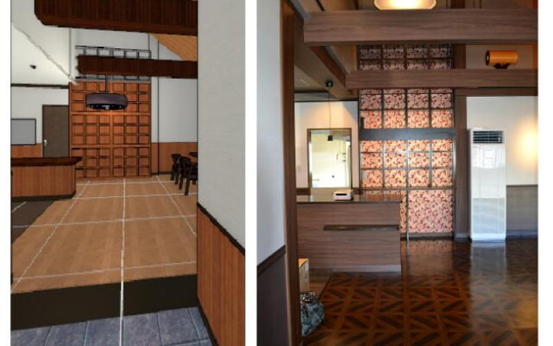 浜松市中区幸町の先輩のお店の店舗新装工事がスタート~その9~完成予想図、パースの大切です!