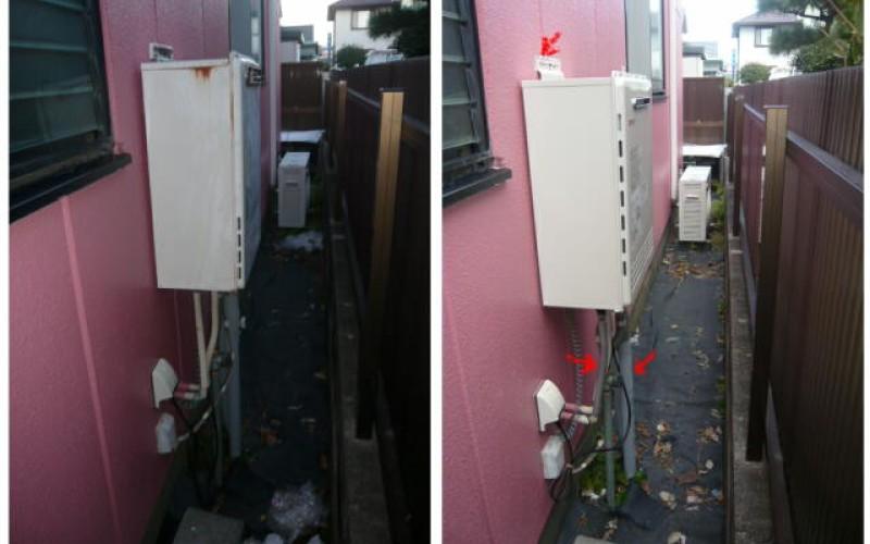 浜松市中区の小さなリフォームからこつこつと!給湯器の交換の施工事例です
