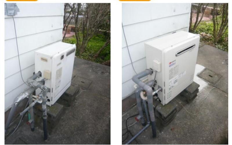 浜松の給湯交換サービスの施工事例です。給湯器交換業者としてGT-C2052-SARX-2 BLの取替え工事