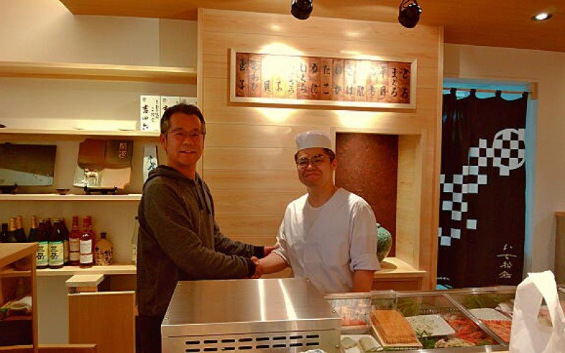 いち松鮨さんが1周年。早いですね。今日も美味しいお鮨ありがとうございました。
