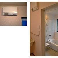 浜松市浜北区の浴室と洗面のリフォームの施工事例です。洗面には壁取り付けの暖房機も新設。