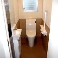トイレリフォームの施工事例です。節水トイレとメンテナンスを考えて!