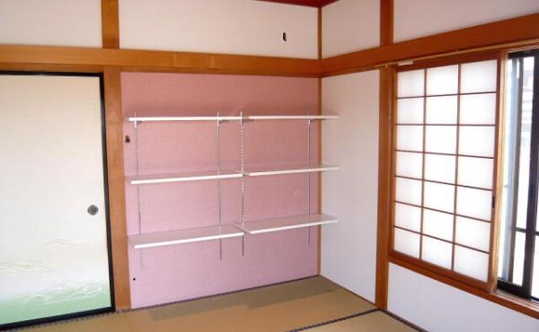 和室を洋風にそして収納棚もかわいく造作。そんな施工事例です。のサムネイル
