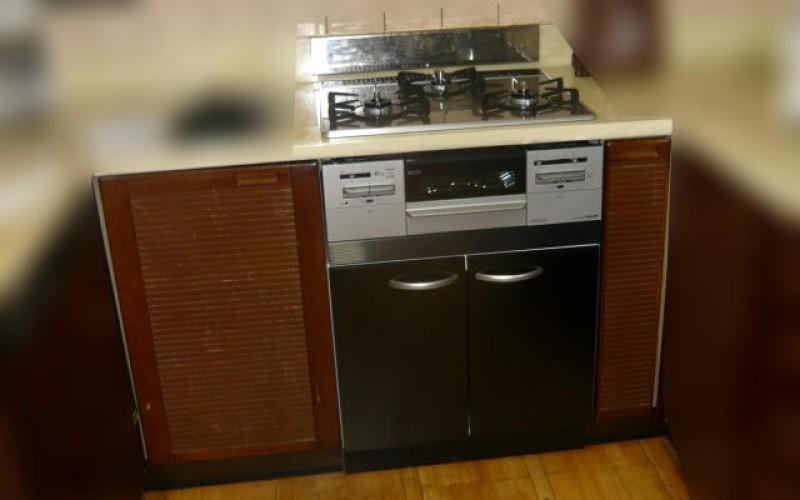浜松市中区のオーブン付コンロから収納+ガスコンロへの取替