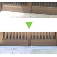 玄関サッシの取替です。玄関引き戸のカバー工法によるリフォームのサムネイル