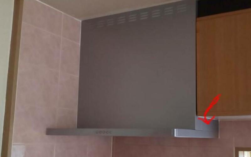 レンジフード、キッチンの換気扇の取替施工事例です。