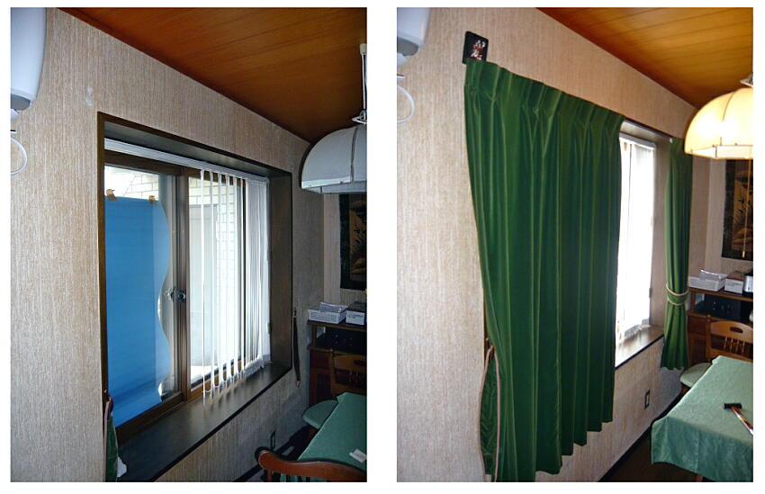 やっぱり高いものは長持ちしますね。10年以上前に布クロスの張替えを、あと別珍のカーテンの取替えをやらせてもらいました。今でもすごく雰囲気、存在感があります。