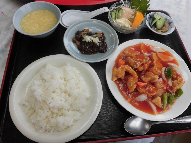 ランチ 雪園 酢豚定食